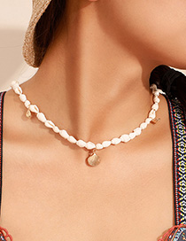 Fashion White Alloy Shell Conch Necklace