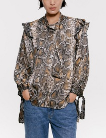 Fashion Snake Snake-printed Blouse