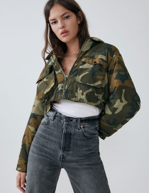 Fashion Camouflage Short Camouflage Jacket