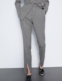 Fashion Gray Houndstooth Pants