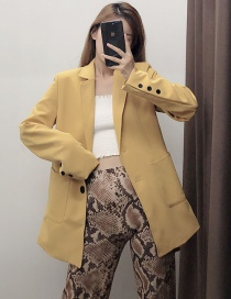Fashion Yellow Mid-belt Suit