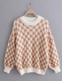 Khaki Knitted Embroidered Mohair Pullover