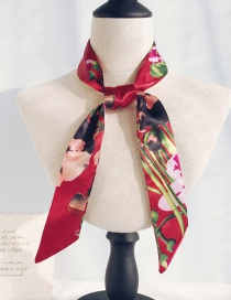 Fashion Jujube Flower Long Narrow Scarf
