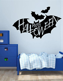 Fashion Multicolor Kst-40 Halloween Bat Wall Sticker