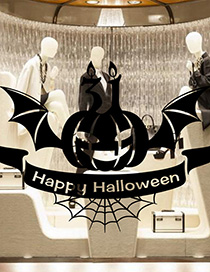 Fashion Multicolor Kst-63 Halloween Ghost Pumpkin Wall Stickers