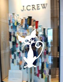 Fashion White Kst-41 Halloween Magic Cat Wall Sticker