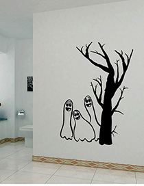 Fashion Multicolor Kst-22 Halloween Poke Pvc Removable Wall Sticker