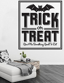 Fashion Multicolor Kst-49 Halloween Trick Treat Wall Sticker