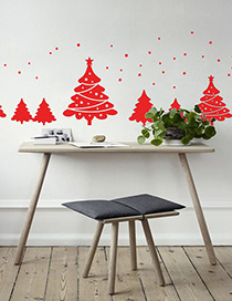 Fashion Red Ss-22 Christmas Tree Sticker