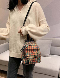 Fashion Color Plaid Backpack