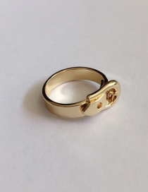Fashion Button Gold Belt Buckle Metal Smooth Ring