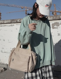 Fashion Khaki Canvas Portable Messenger Bag