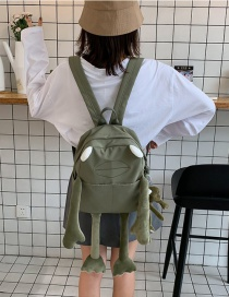 Fashion Green Long Leg Frog Backpack