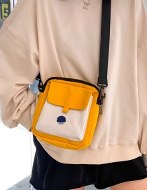 Fashion Yellow Embroidered Planet Canvas Shoulder Bag