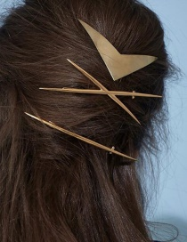 Fashion Gold Alloy X-shaped Hair Clip