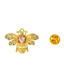 Fashion Gold Diamond-studded Brooch
