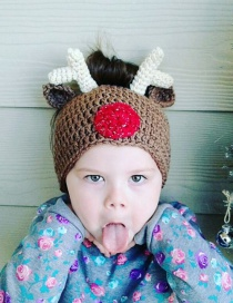 Fashion Antlers Cartoon Animal Empty Top Wool Cap
