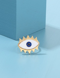 Fashion Gold Alloy Drop Eye Ring