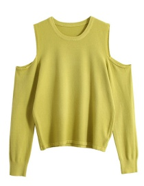 Fashion Green Off-the-shoulder Sweater