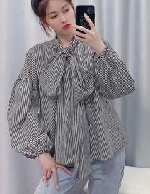 Camisa A Rayas Pajarita