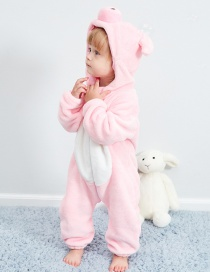 Fashion Powder Pig Animal Jumpsuit Flannel Children's Romper