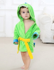 Fashion Dinosaur Small Clothes Cartoon Little Dinosaur Child Bathrobe