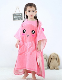 Fashion Pink Jellyfish Hooded Cloak Cartoon Baby Can Wear Towel