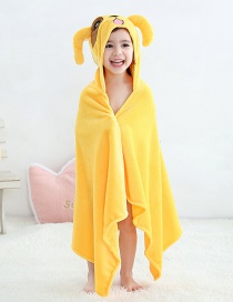 Fashion Yellow Dog Coral Velvet Bath Towel