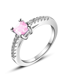 Fashion Pink Zircon Zircon Ring