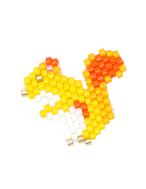 Fashion Yellow Squirrel Rice Bead Woven Bracelet