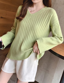Fashion Green Bottoming Sweater