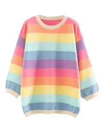 Fashion Pink Rainbow Pullover
