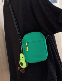 Fashion Green Canvas Shoulder Diagonal Package