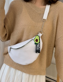Fashion White Chain Shoulder-slung Chest Bag