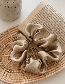 Fashion Champagne Gold Silk Satin Large Intestine Ring Hair Ring