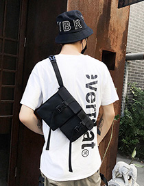 Fashion Black Non-reflective Shoulder Bags