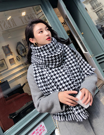 Fashion Houndstooth Houndstooth Hair Scarf