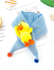 Fashion Sky Blue Duckling Triangle Scarf Baby Scarf