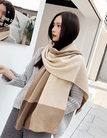 Fashion Rice Fight Knit Long Section Thick Wool Scarf
