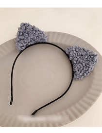 Fashion Cat Ears - Fog Blue Lamb Plush Ear Headband