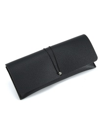 Fashion Black Leather Glasses Case