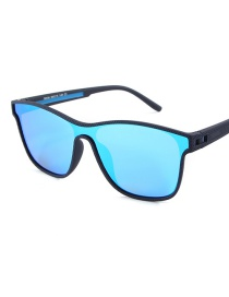 Fashion Blue Siamese Lens Sunglasses