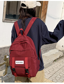 Fashion Red With Pendant Letter Backpack  Canvas