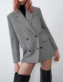 Fashion Gray Houndstooth Suit