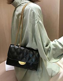 Fashion Black Chain Rhombic Crossbody Shoulder Bag