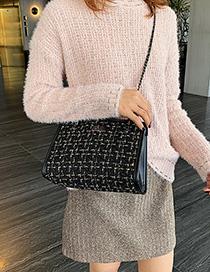 Fashion Black Lazy Child Chain Single Shoulder Messenger Bag
