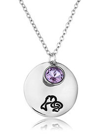Fashion Pisces Stainless Steel Constellation Diamond Necklace