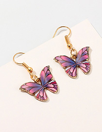 Fashion Color Simulation Butterfly Earrings