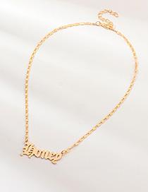 Fashion Gold Letter Honey Necklace