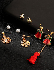 Fashion Gold Snowflake Bell Earrings